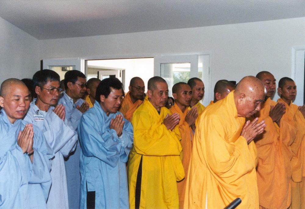 HÌNH ẢNH HÒA THƯỢNG ÂN SƯ TẠI TVTL ĐẠI ĐĂNG NĂM 2001